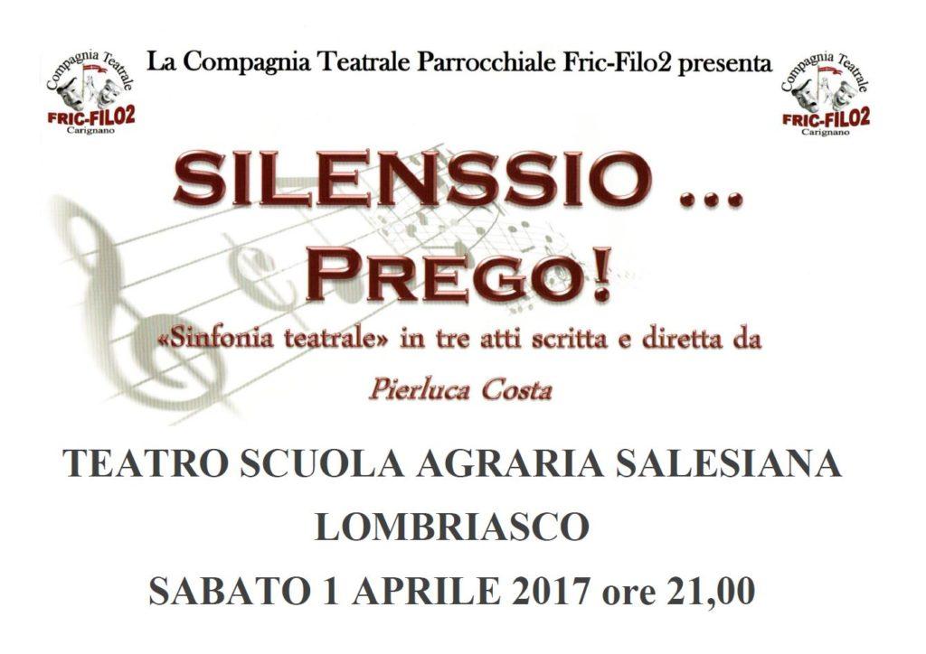 Spettacolo teatrale Silenssio.. prego!