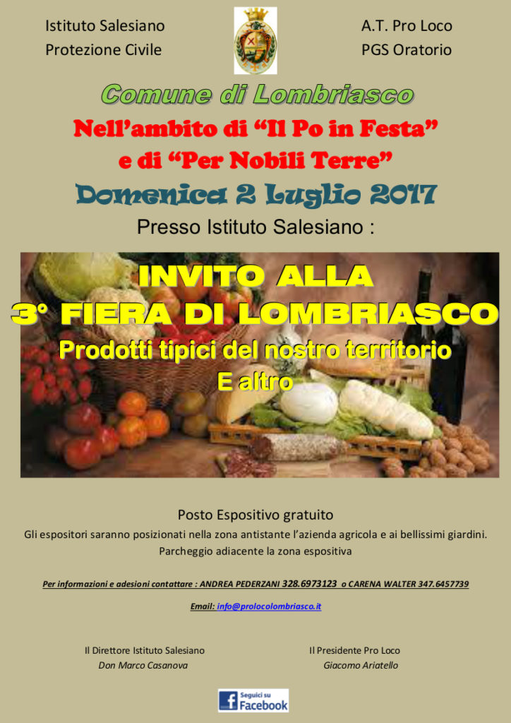 Invito Fiera 2017