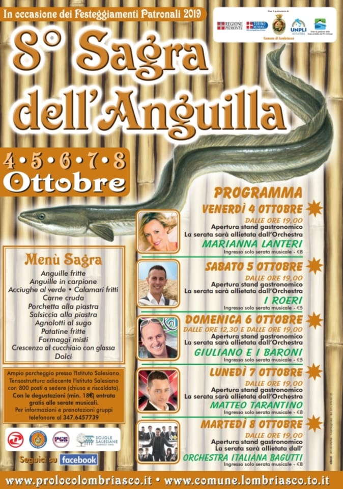 Programma sagra anguilla 2019